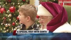 Kids with special needs visit Santa at mall