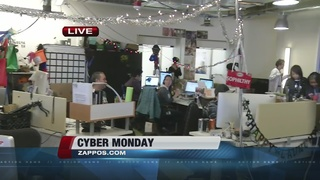 Zappos employees busy on Cyber Monday