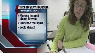 Tips on staying focused during holidays