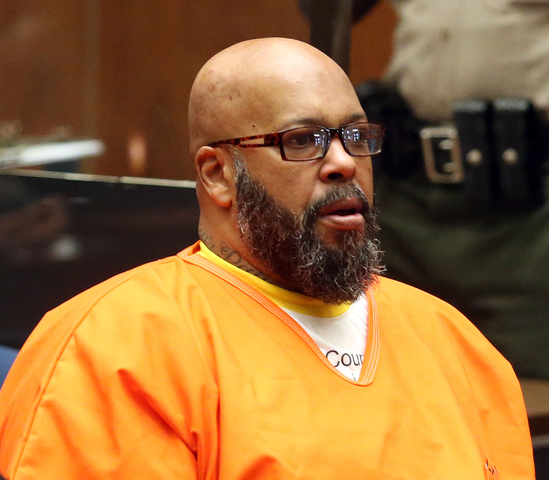 The 52-year old son of father (?) and mother(?), 193 cm tall Suge Knight in 2017 photo