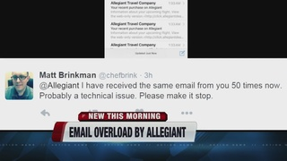 Email problem at Allegiant Airlines