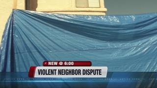 Fight between neighbors escalates