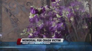 Memorial set up for man killed in bus stop crash