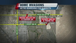 Police searching for suspects in home invasions