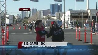 Runners participate in Big Game 10K