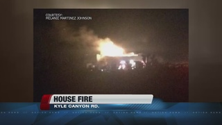 House burns in Kyle Canyon