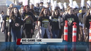Runners participate in Big Game 10K