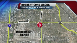 Robbery victim recovering after being shot