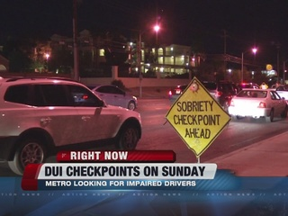 Police hold DUI checkpoints this past weekend