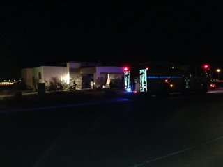 Fire at vacant house in southwest Las Vegas
