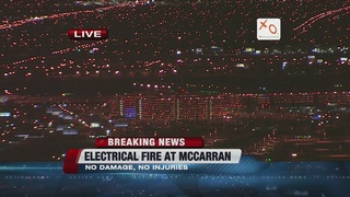 None hurt in small fire at McCarran Airport