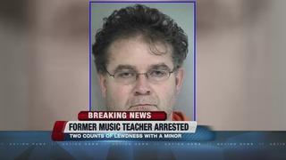 Former music teacher arrested for lewdness