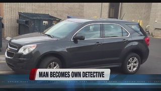 Man becomes own detective after car stolen