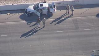 Bank robbery suspect arrested after crash