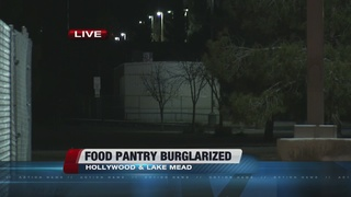 Local food bank targeted by thieves