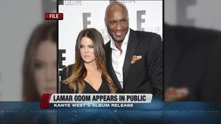 Lamar Odom makes appearance at Kanye West fashio