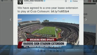 Oakland Raiders not coming to Las Vegas, for now