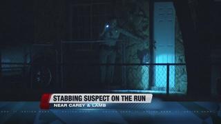 Stabbing suspect still on the run