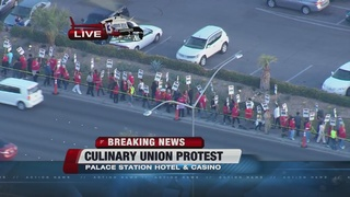 Culinary Union protesting at Palace Station