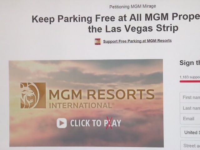 Petition seeks to stop paid parking at MGM properties on Las Vegas Strip