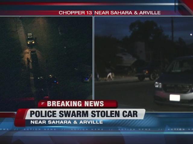 Police swarm stolen vehicle