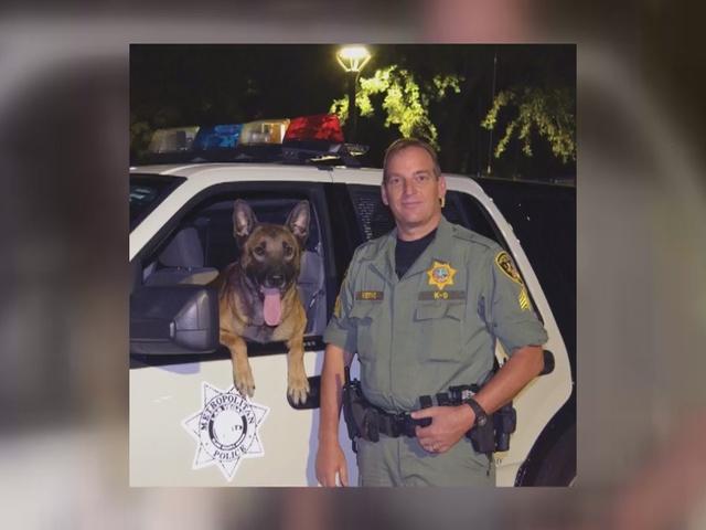 UPDATE: Police dog stabbed during standoff