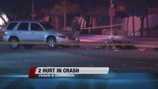 2 hurt in Friday crash involving motorcycle, SUV