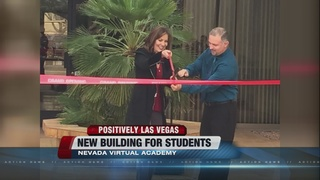 Nevada Virtual Academy building ribbon cutting