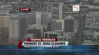 Fremont East closed for an event Wednesday