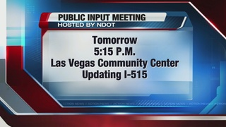 Meeting being held on I-515 alternatives