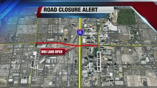 Flamingo reduced to one lane overnight this week