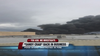 Sandy Crab back in business after storage fire