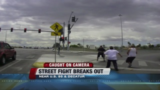 CAUGHT ON CAMERA: Street fight