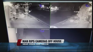CAUGHT ON CAMERA: Man takes down cameras