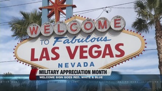 Welcome sign honors Military Appreciation Month