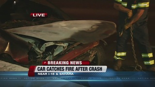 Fiery crash on I-15