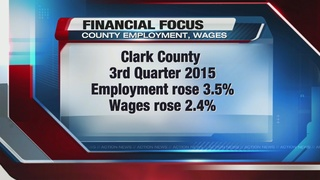 Employment rises in Clark County