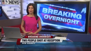 Shooting at Nye County wedding reception