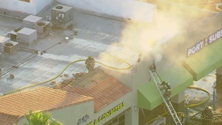 Electrical fire damages strip mall