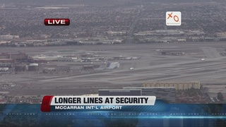 Expect longer lines at McCarran Airport security