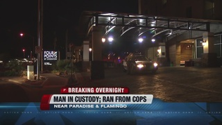 Man in custody after police chase
