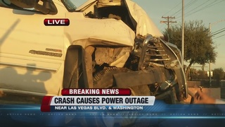 Crash causes power outage