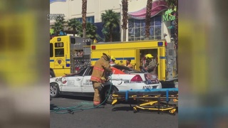 Taxi involved in serious crash on Vegas Strip