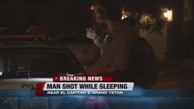 Sleeping man shot in northwest Las Vegas
