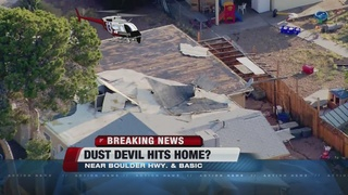 Possible dust devil hits Henderson home