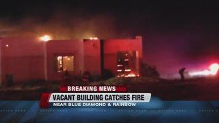 House fire on Blue Diamond and Rainbow