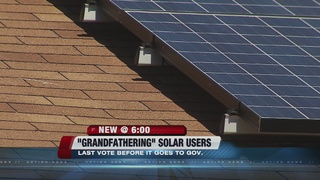 Final vote on solar 'grandfathering' Thursday