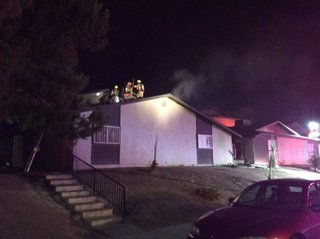Apartment building catches fire