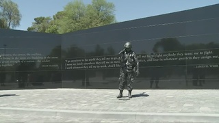 Dedication ceremony for new veterans memorial