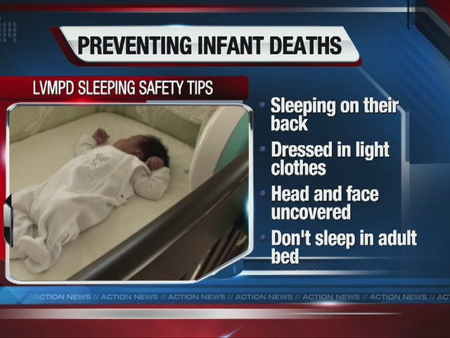 Tips on safe sleeping for infants